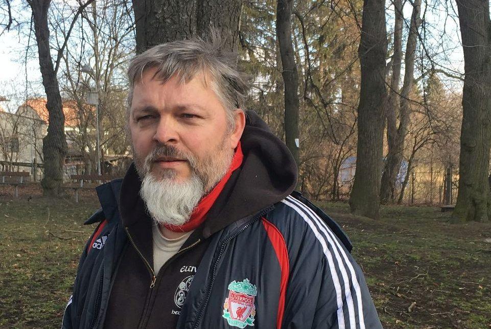 Robert Čapek při outdoorovém učení.