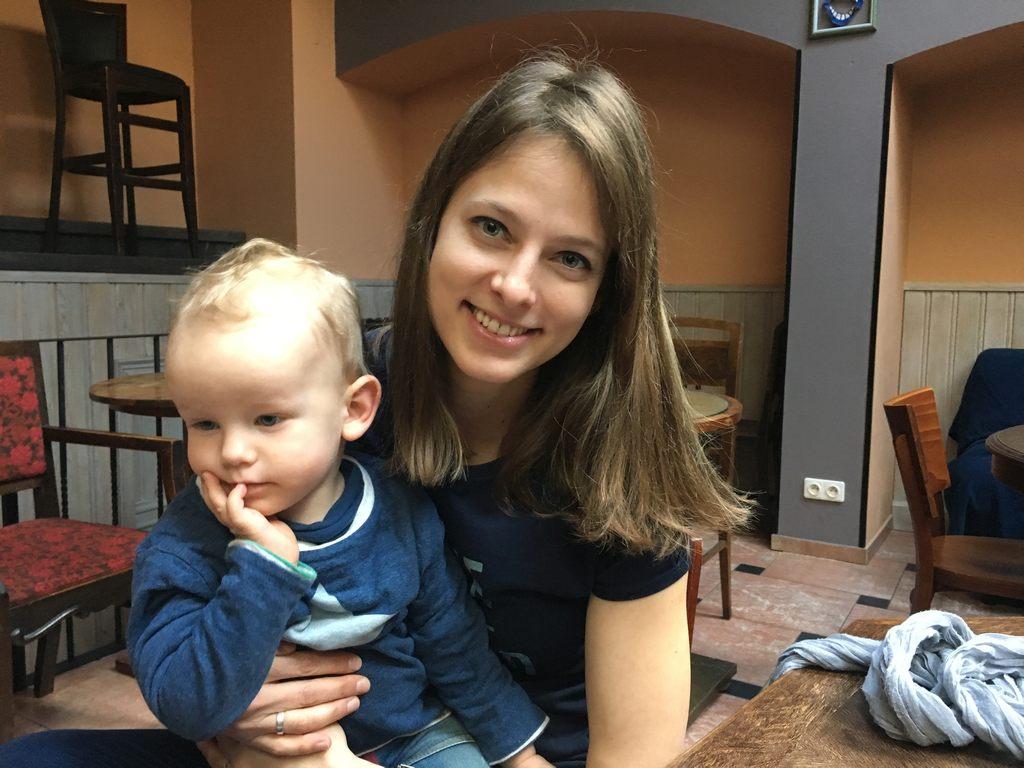 Martina Elterlein a syn Alfréd.