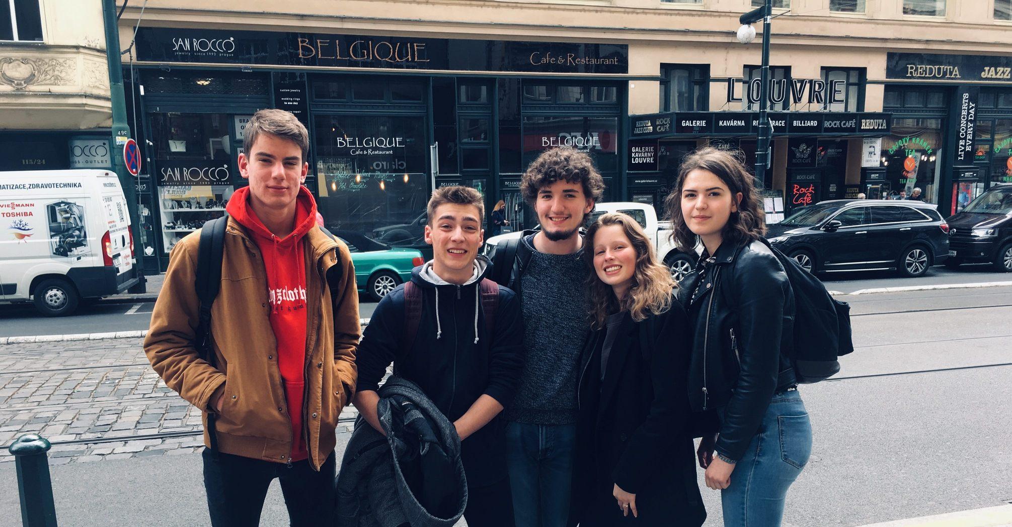 Zleva: Corentin, Simon, Selim, Lou, Emilie