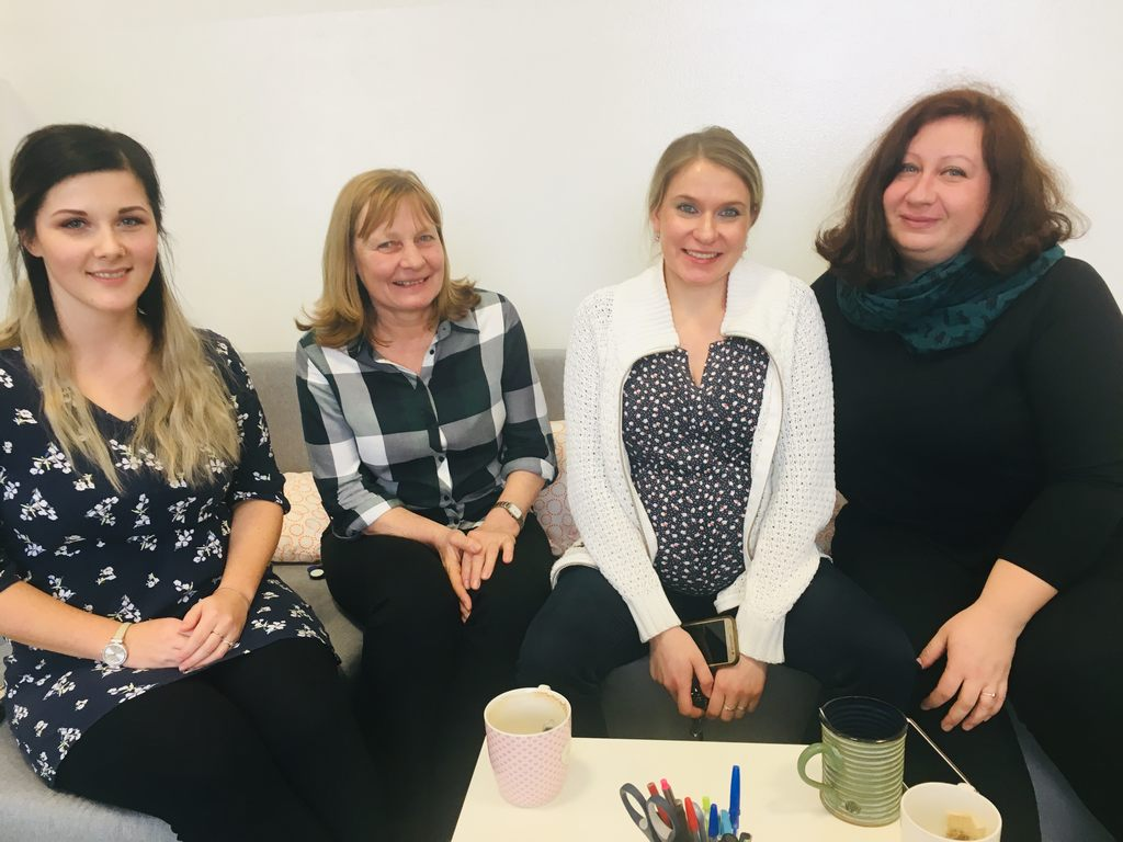 Zleva: psycholožka Lucia Poláková, učitelky Dagmar Marvanová a Petra Lehmannová (nyní na mateřské dovolené) a speciální pedagožka Markéta Zelená.