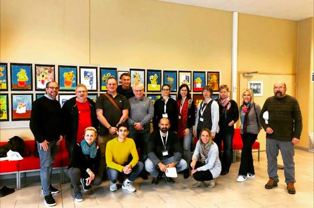 Účastníci zájezdu - čeští učitelé a ředitelé ve Finsku.