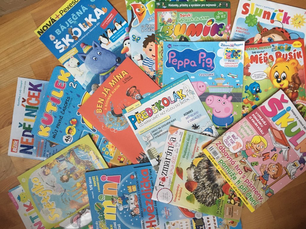 Nabídka časopisů pro předškoláky je široká. Stačí si vybrat.