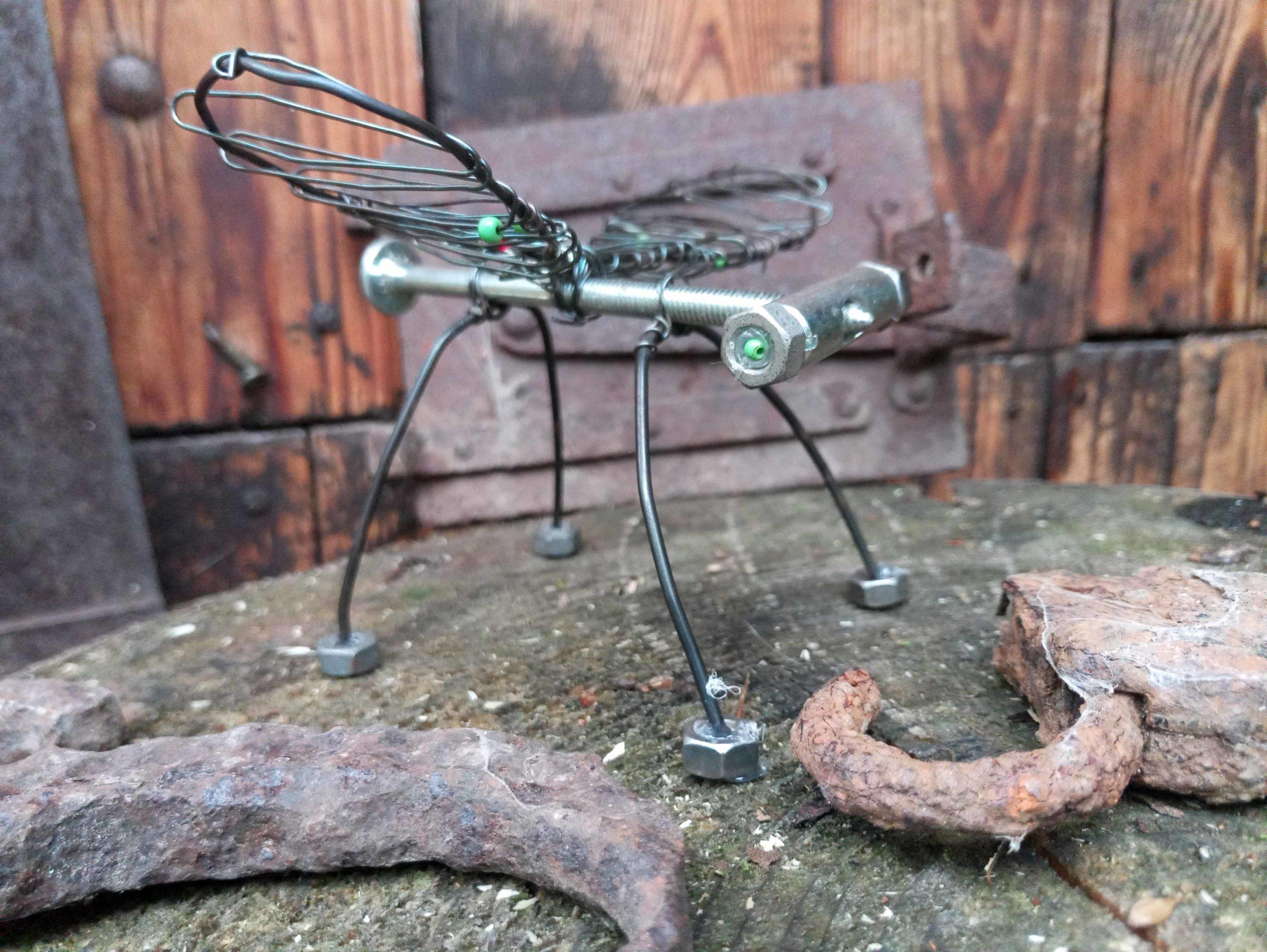 Robotická vážka od jednoho z žáků Jana Kopřivy.