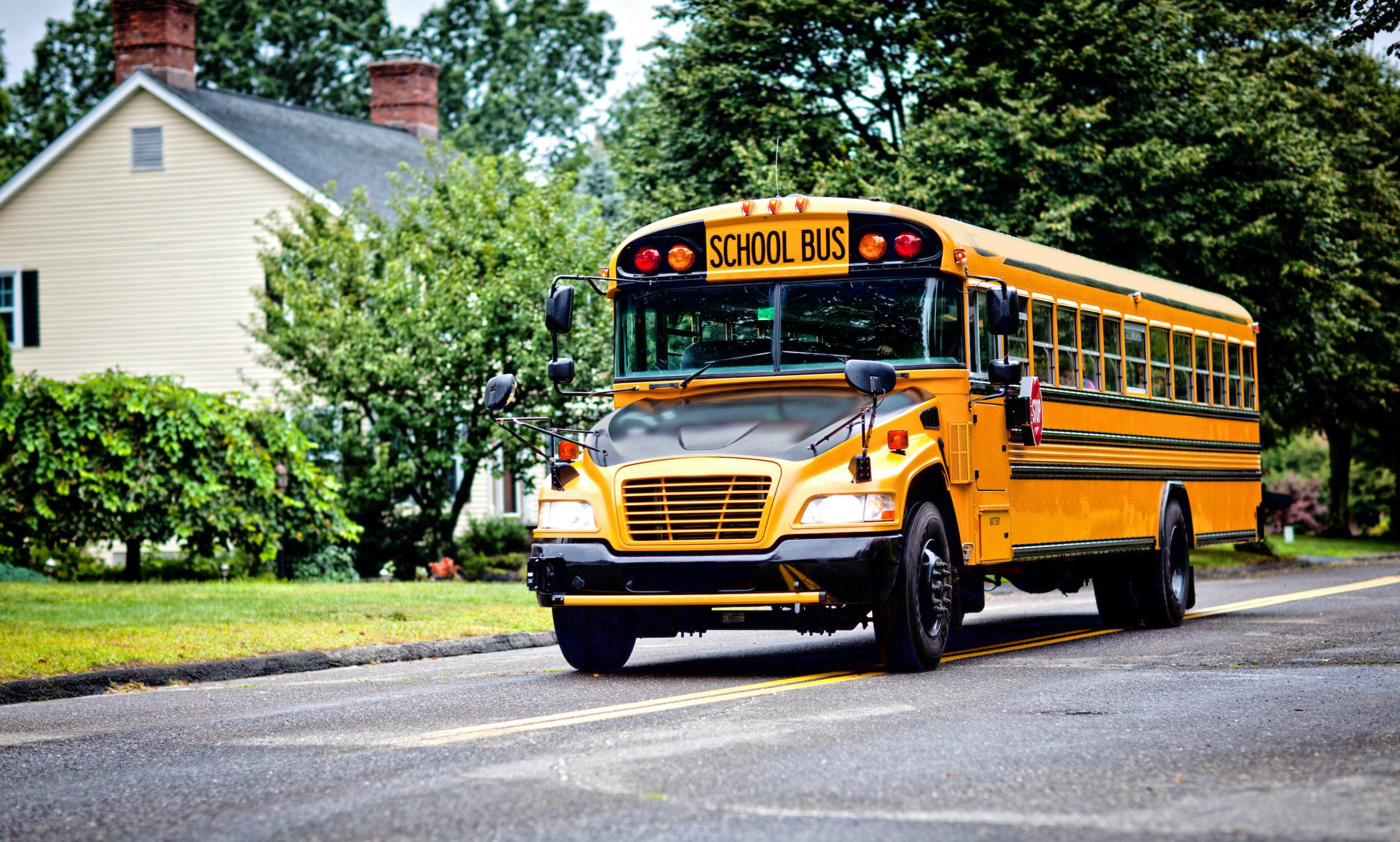 Ve Spojených Státech v souvislosti s bezpečím dětí musí rodič až do třetí třídy doprovodit dítě na zastávku školního autobusu.